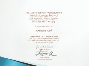 elite sports therapy training cert