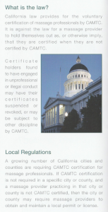 CA Massage Law voluntary