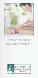 is your masage provider certified